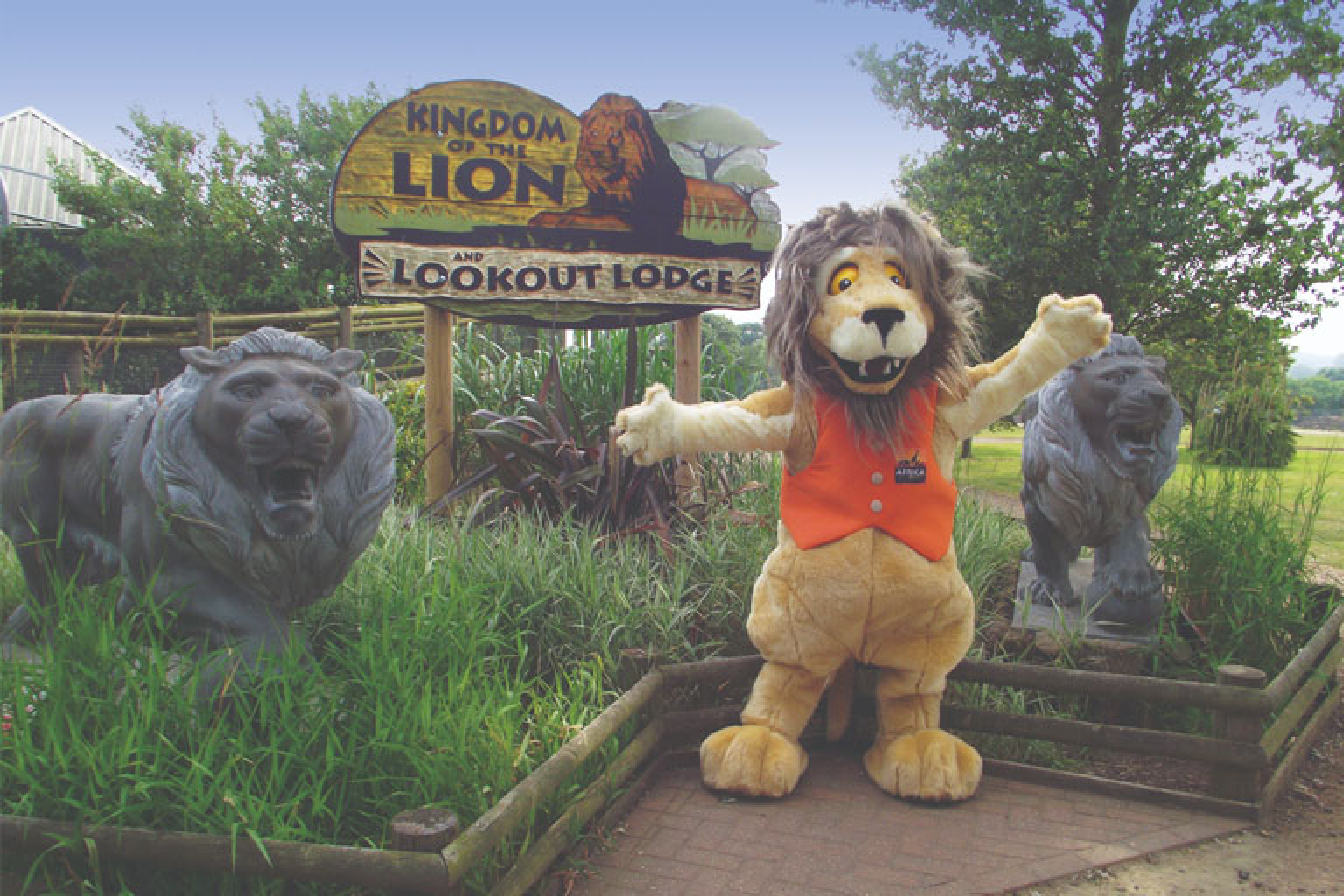 lion mascot africa alive