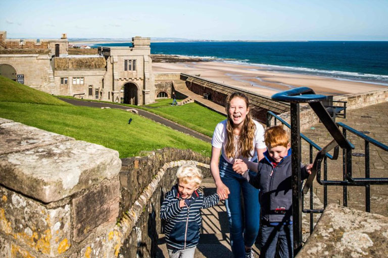 family at bamburgh castle