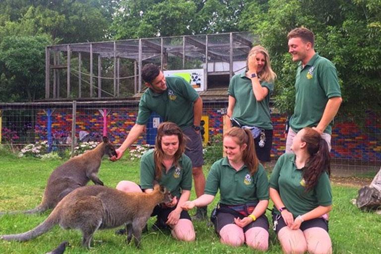 staff at battersea zoo