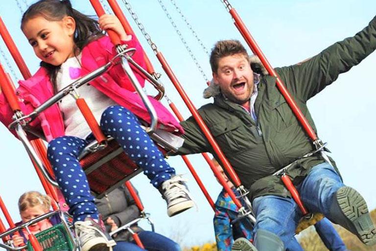 dad and daughter swings camel creek