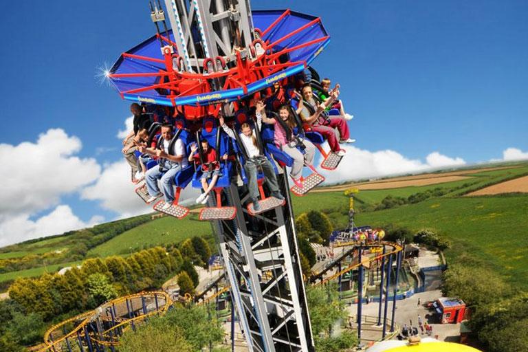 vertical drop ride at flambards