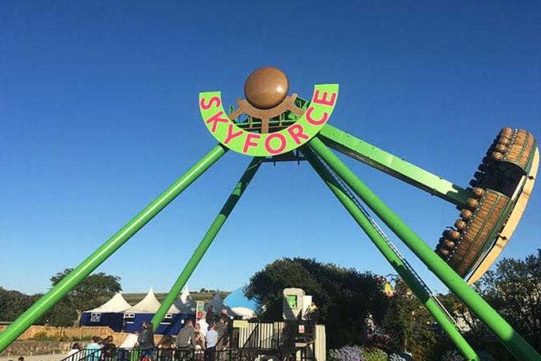 skyforce ride at flambards theme park
