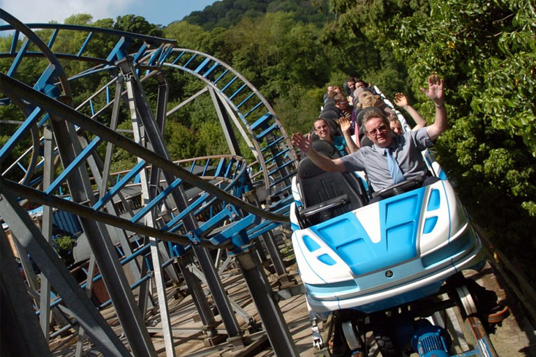 blue rollercoaster