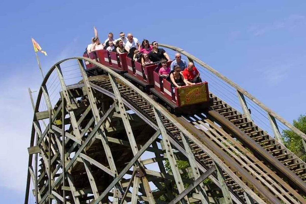 rollercoaster at top