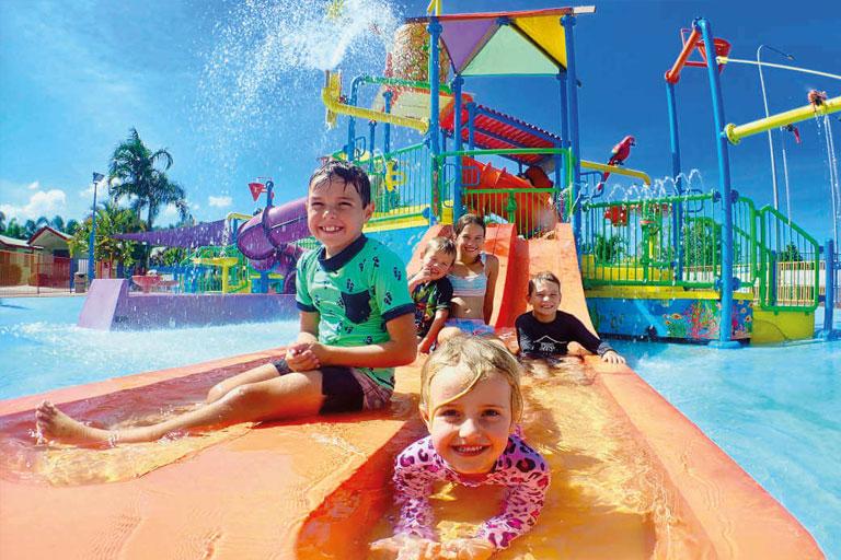 kids on water slide haven holidays