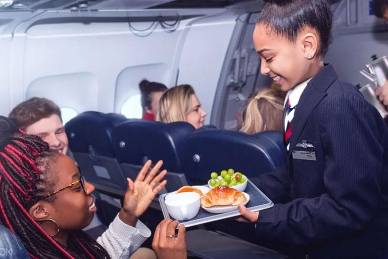 kidzania flight attendants at work