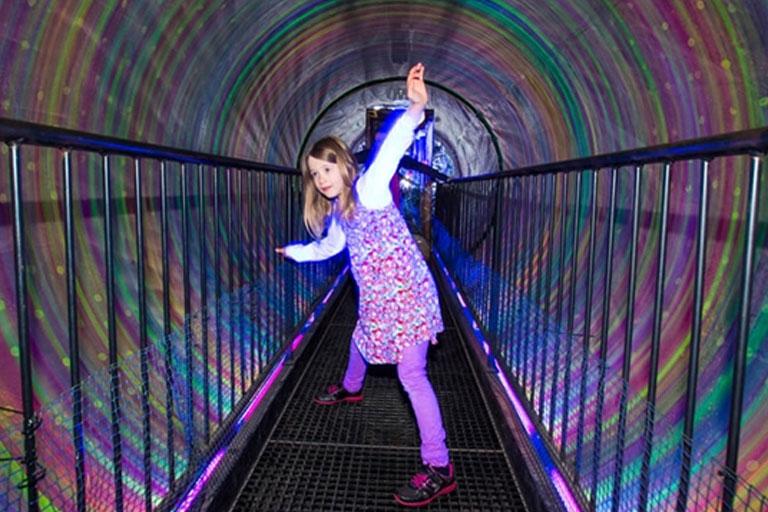 psychadelic tunnel landmark forest