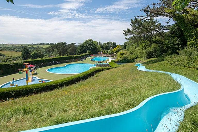 water slide at Parkdean Resorts newquay