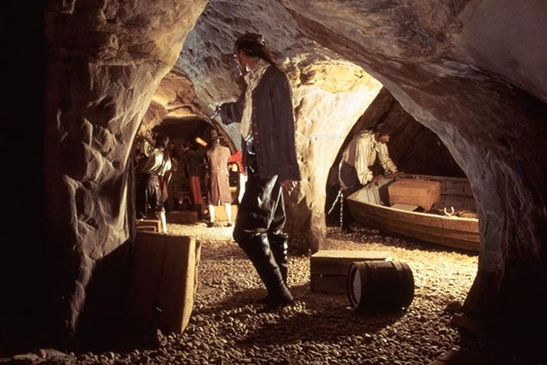 pirates in caves at smugglers adventure