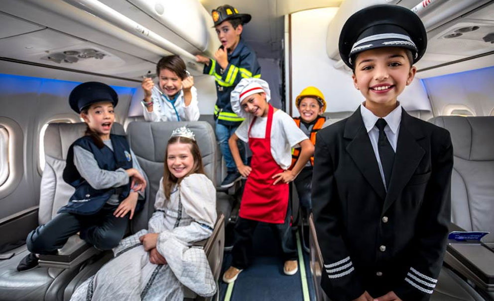 Kids dressed as different emergency services professionals