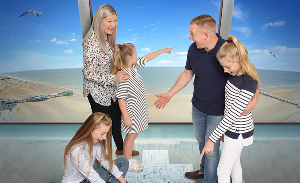 family at blackpool tower