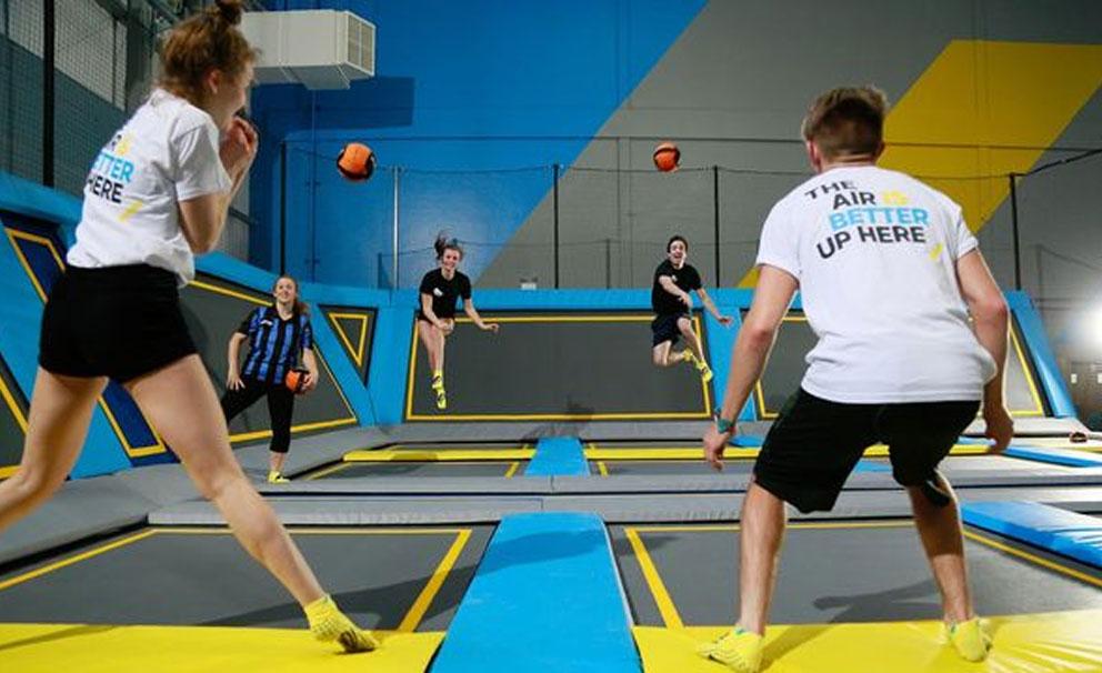 trampoline dodgeball at oxygen freejumping