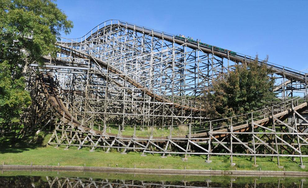 oakwood theme park rollercoaster