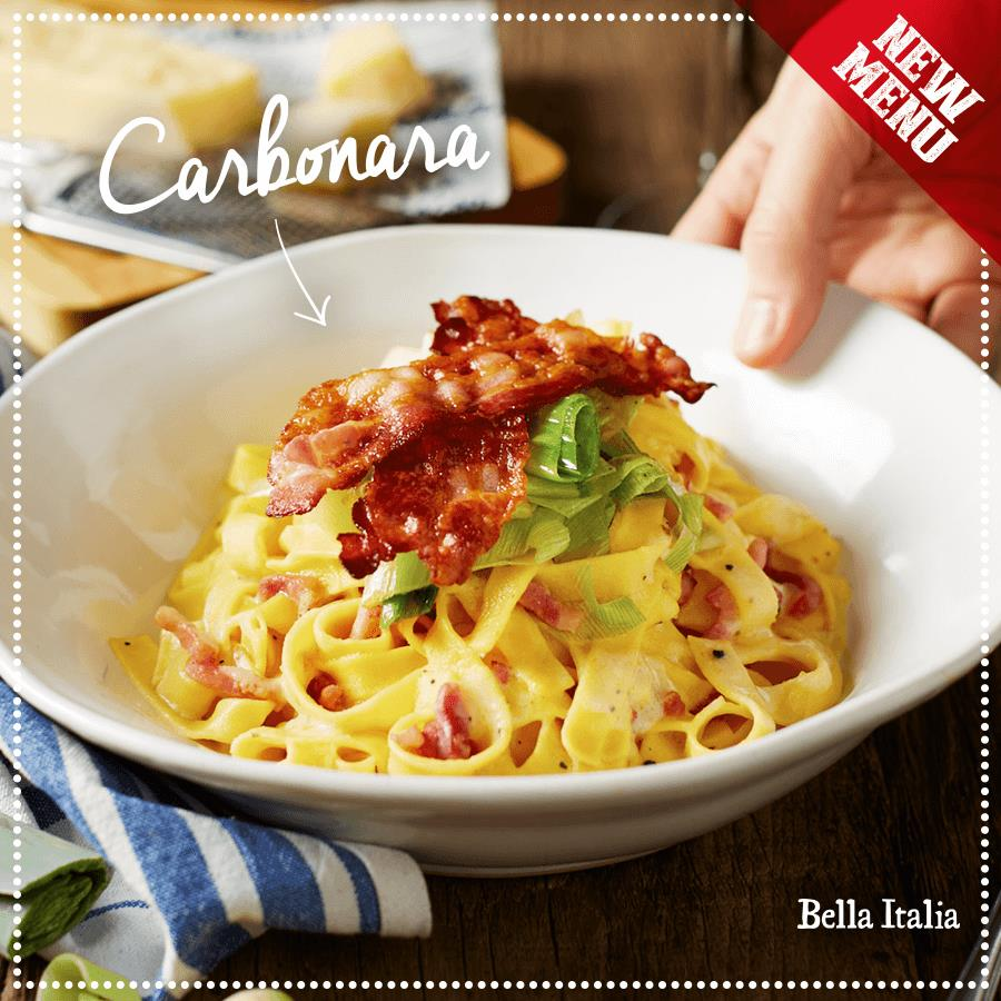 The wait is over... Bella Italia's new menu is now available! header image