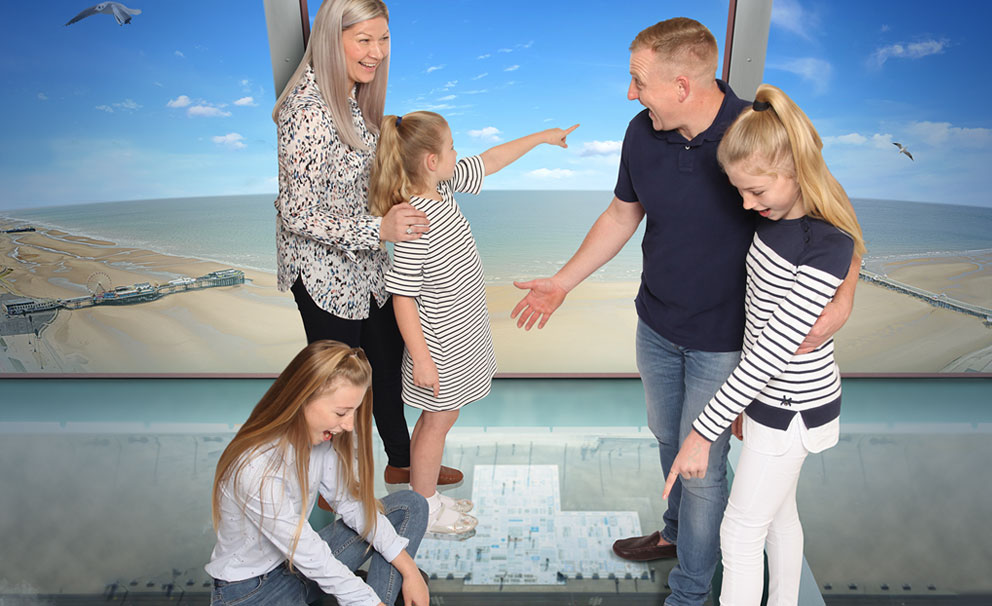 family at blackpool tower eye